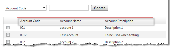 Accounts page during the ordering process.