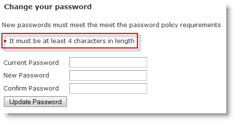 Password-Minimum